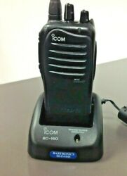 Icom Ic-f3011 Portable Radio 5w 16 Ch Charger Used Battery Free Programming