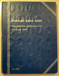 Whitman Lincoln Head Cent Collection 1941- 1965 Last Date Coin Album W. 64 Coins