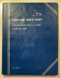 Whitman Lincoln Head Cent Collection 1 1909 - 1940 Coin Album W. 44 Coins