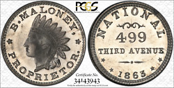 Ny630au-1b Pcgs Ms66 White Metal R10 Prooflike Surfaces With Hints Of Magenta
