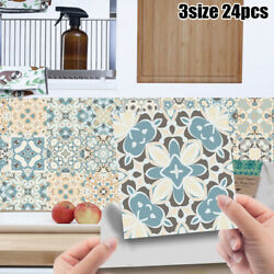 24X Kitchen Bathroom Mosaic Pattern Tile Stickers Wall Decors Self adhesive
