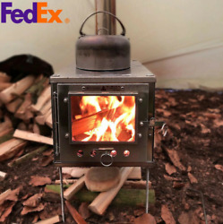 Outdoor Ultralight Titanium Wood Stove Detachable Camping Tent Heating Stove