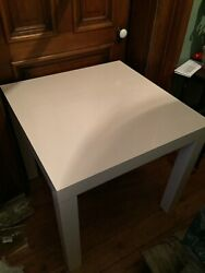 West Elm White Table 32 X 32 X 30 New With Tags
