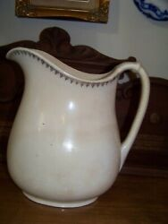 Antique Harker Pottery Co. Semivitreous Ware 10 Pitcher