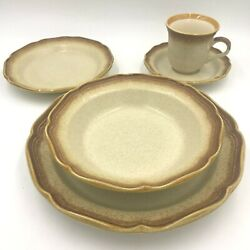Mikasa Whole Wheat E8000 Place Setting Dinner Salad Plates Bowl Cup And Saucer Dh3