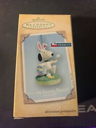 2004 Hallmark Keepsake Spring Easter Ornament It#x27;s The Easter Beagle Snoopy