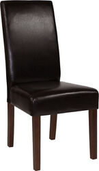 Greenwich Series Brown Leathersoft Parsons Chair