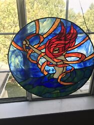 One Of Kind Stain Glass Art Andldquo Powerful Ocean Womenandrdquo