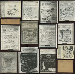 Ww2 Illustrated Airgrams Censored Christmas Valentines Etc... Priced Singly