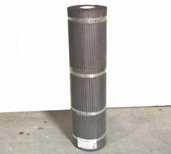 Cambridge Rexnord Mtr 40and039 Food-grade Stainless Ss Mesh Wire Conveyor Belt 38w
