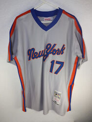Mitchell And Ness New York Mets Authentic 1987 Keith Hernandez Road Jersey 54