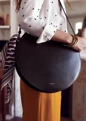 Brand New Sezane Nicole Black Large Round Leather Bag Sold Out