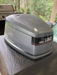 Yamaha 130 Hp 2 Stroke V4 Outboard Engine Top Cowling Cover Hood