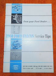 1960 Ford Falcon Nos And039service Tipsand039 Dealer Hand Book Manual Booklet Brochure