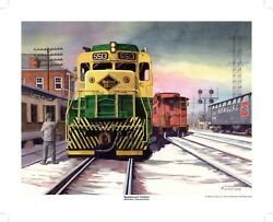 Eastbound Orders Print Reading Rr Gp30 16 X 20 Peter Lerro Jr Signed And Numbered