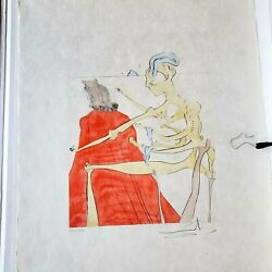 Salvador Dali Original After 50 Years Drypoint Handsigned Numbered Lithograph