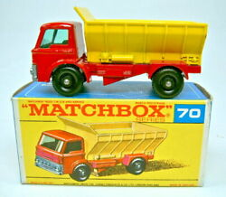 Matchbox No. 70b Grit Spreader Red And Dark Yellow Superfast Colours In F Box