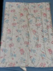 Vintage Rosebud Baby Blanket Blue Pink Kittens Satin Quilted Nos Marcus Brothers