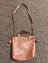 Madewell Lafayette Bucket Leather Bag Rose Pink $75.00