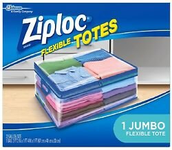 Ziploc Storage Bags for Clothes Flexible Totes for Easy and Convenient Storage $10.99