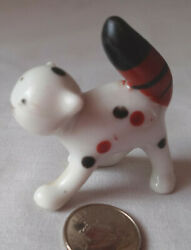 Vintage Cat Miniature Figurine Calico Cat Japan