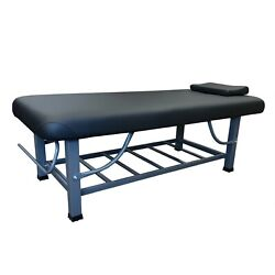 Toa 4-legs Metal Framed Stationary Or Portable Spa Massage Table Bed W/tray Rack