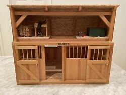 Dakin's Miniature Horse Barn For Breyer Horses, Genuine Leather Saddle, And More