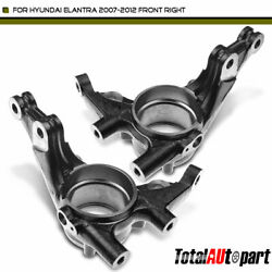2pcs Steering Knuckle Front Side For Hyundai Elantra 2007-2012 With 4-wheelabs