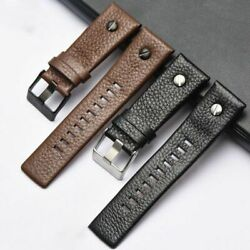 22 24 26 28mm Cowboy Style Nylon Calf Leather Watch Band For Diesel Man Strap