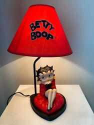 Extremely Rare Betty Boop Sitting Sexy Figurine Table Lamp Statue