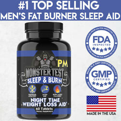 Monster Test Menand039s Fat Burner Pm Night-time Weight Loss Diet Pill
