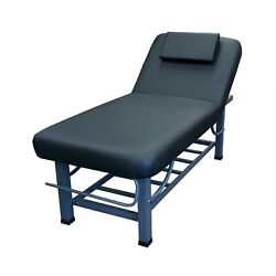 Toa 4-legs Metal Framed Facial Stationary Or Portable Massage Bed W/tray Rack