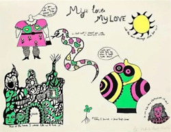 Niki De Saint Phalle My Love My Love Screenprint Signed And Numbered In Penc