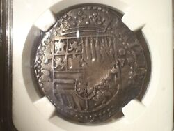 1574 Bolivia 8 Reales 8r Cob Spanish Colonial Silver Pirate Coin Ngc Vf-25