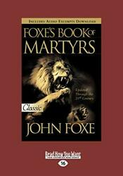 Foxes Book Of Martyrs By Foxe, John Paperback
