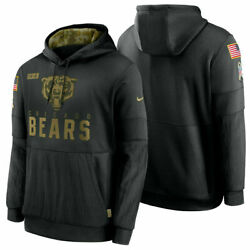 Authentic Nike 2020 Chicago Bears Salute To Service Hoodie-- Size-3xl