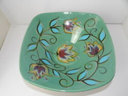 Southern Living At Home Gail Pittman Large Square Green Bountiful Bowl And Stand