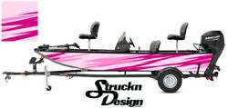 Graphic Pontoon Pink Wrap Streaks Fishing Bass Boat Abstract Fish Decal Vinyl
