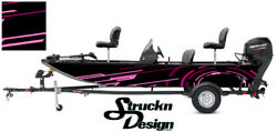 Graphic Boat Wrap Pink Bass Fishing Usa Shapes Pontoon Abstract Fish Decal Vinyl