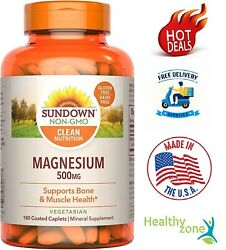 Magnesium 500 Mg Support Bone Muscle Heart Nerve Joint Health, 180 Caplets
