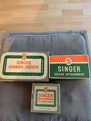 Vintage Singer Automatic Zigzagger, Zigzag Attachment, And Stitch Patterns