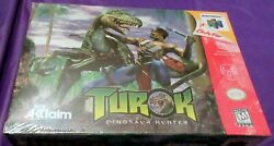 Turok Dinosaur Hunter New Mega Rare N64 Nintendo 64 1997 Made In Japan