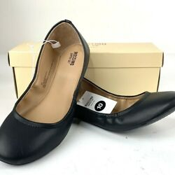 New Mossimo supply Black Women#x27;s Flats Ballet Flats Faux Leather Size 10 $12.99