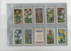 Tea Cards Brooke Bond Wild Flowers 2nd Series No Issued By Set 1959 Full Set