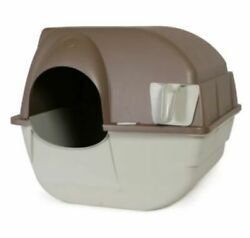 Litter Box Cat Large Pan Enclosed Omega Paw Roll #x27;n Clean Self Cleaning Box Regl