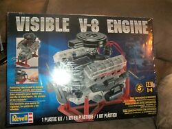 New In Box 2014 Revell Visible V-8 Engine 1/4 Car Model Kit Collectible Toy