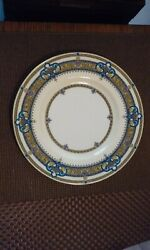 Rare Pattern Minton China Hand Painted Gold Porcelain Dinner Plate H3457 England