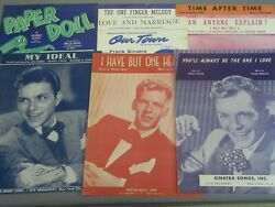 Frank Sinatra Sheet Music 8pc Love And Marriage Paper Doll Time After Time More
