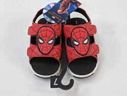Marvel Spiderman Boys Sandal 7 Lighted Footwear Red