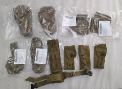 Lot Usmc Molle Pouch, Coyote Brown , Genuine U.s. Military Issue
